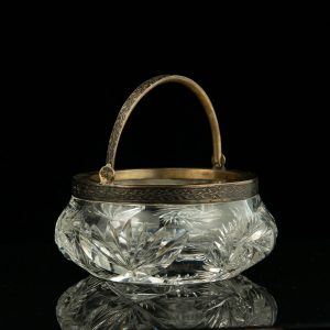 Antique Estonian silver crystal bowl