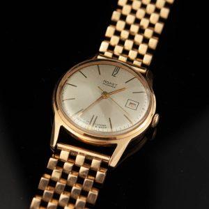 Soviet Russian gold watch Poljot
