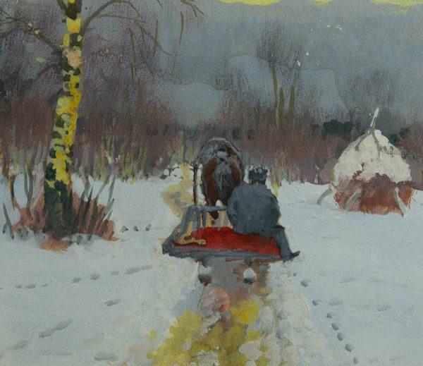 Andrei Jegorov (1878-1954) Talvine maastik