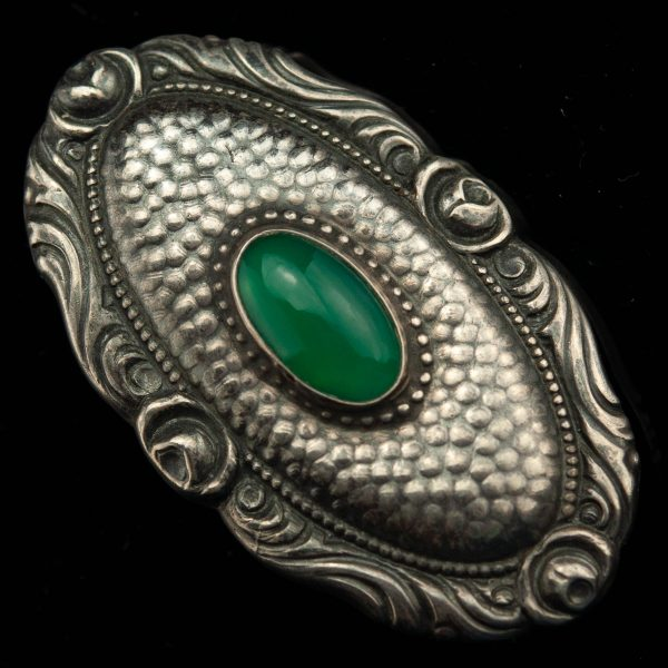 Pross - 830 hõbe roheline kivi