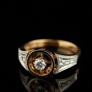 Sõrmus - kuld 750, briljant
