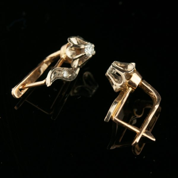 Sõrmus ja kõrvarõngad - kuld 583, briljandid