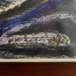 Valdur Ohakas (1925-1998) Abstraktne,tint-viltpliiats paberil