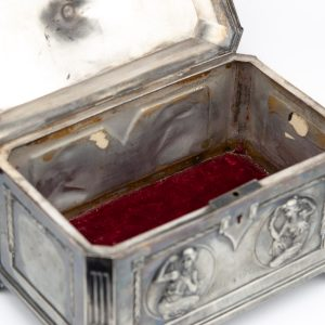 Antique metal trinket box
