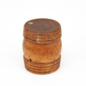Antique wooden string box