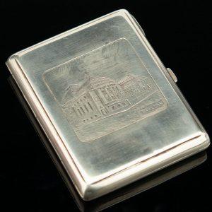 "Silver cigarette case ""ESTONIA TEATER"" Tallinn"
