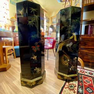 Antiqu Asian flower stands