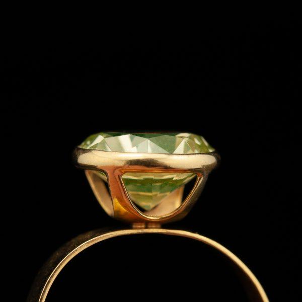Sõrmus, 750 kuld, tsitriin