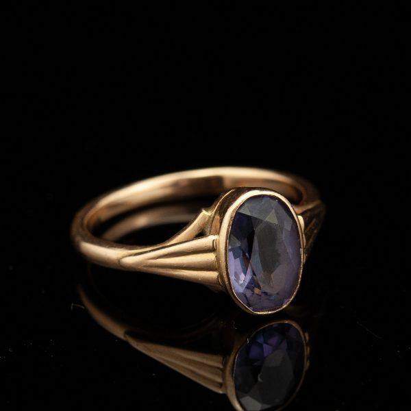 Sõrmus, 583 kuld, aleksandriit