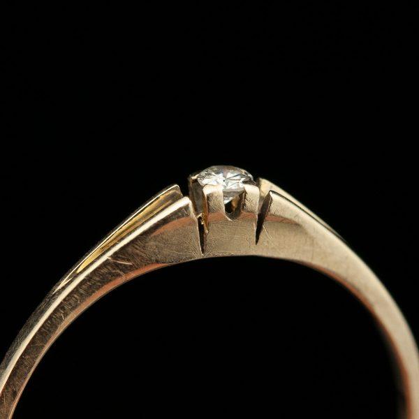 Sõrmus, 750 kuld, briljant