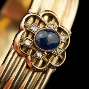 Tsaari-Vene käevõru, 56 kuld, safiir, briljandid