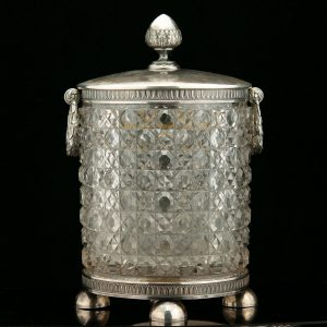 Faberge suhkrutoos, 84 hõbe, kristall