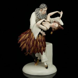 Antique Italian porcelain Capo Di Monte figure - dancers
