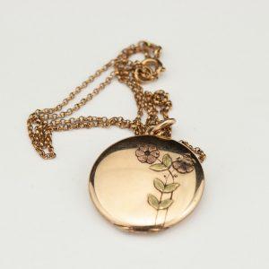 Antiikne medaljon ketiga, dublee