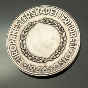Antique Norwegian silver table medal