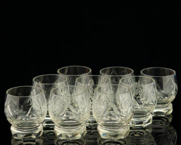 Tarbeklaasi likööriklaasid 9tk,Helga Kõrge 1957a