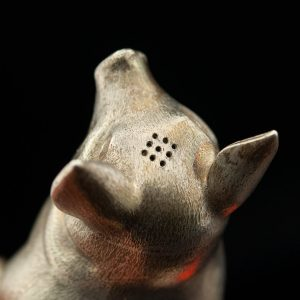 Antique Scottish silver pig figure