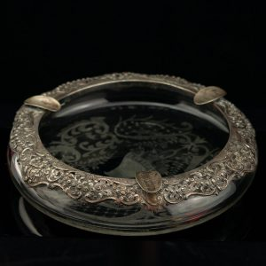 Antique crystal ashtray