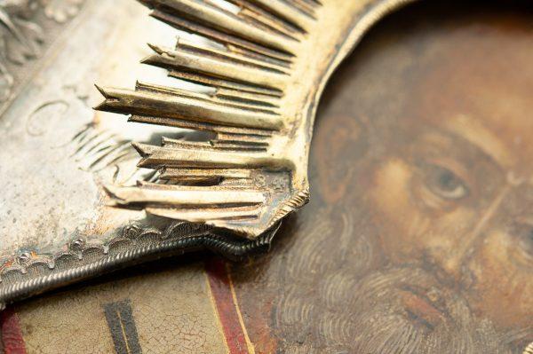 Antiikne ikoon, 84 hõbe kattega