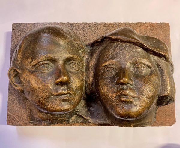 Bronze wall decoration
