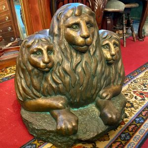 Bronze figure of three lions by LEMBIT KIISON