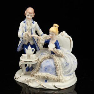 Porcelain figure of a man and woman