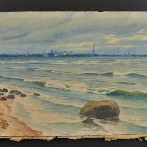 Watercolor painting - View of Tallinn