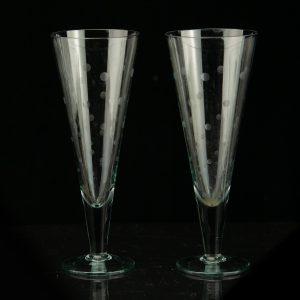 Vintage Estonian glass Tarbeklaas  HURM designer M.Maasikas 1959a