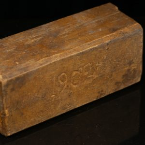 Antique 1902 wood box with sliding cover