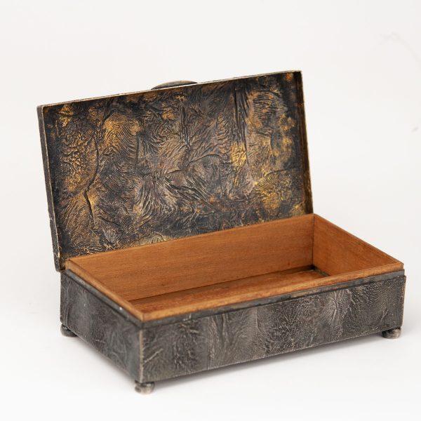 Antiikne Soome sigarikarp, puit, 813 hõbe