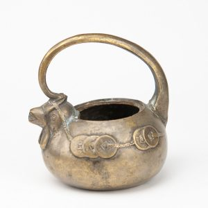 Antique 19th century asian bronze jug