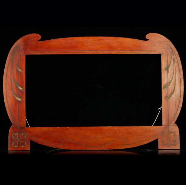 Art Nouveau wood painting frame