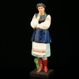 """Antiikne Vene figuur """"Naine päevalillega"""""""