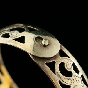 Silver gilt bracelet, niello