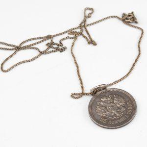 Kaelaehe Tsaari-Vene mündiga, hõbe