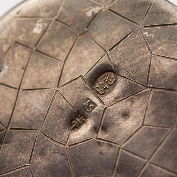 Antiikne väike käsipeegel-ripats, 84 hõbe EW