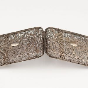Antique filigree cigarette case