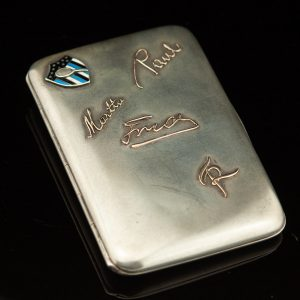 Antique Estonian Tennis veteran Paul Haas cigarette case