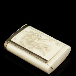 Antique Japanese bone cigarette case
