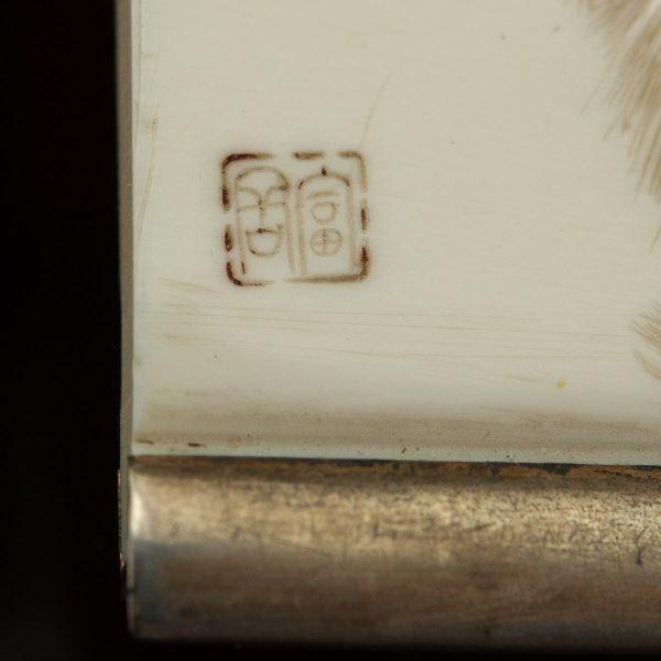 Antiikne Idamaine luust portsigar (defektne)