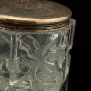 Antiikne juugend karp, klaas, hõbe kaanega, Rootsi