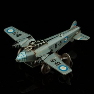 Vintage Tin Toy plane - Made in US Zone Germany