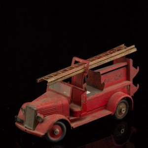 Antique Danish tin toy car, FALCK firemen truck