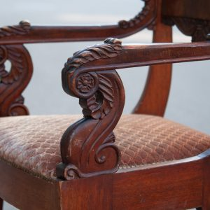 Antique biedermeier chair set of 3