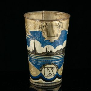Estonian Antique tin cup - LAULUPIDU IX