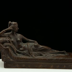 """Antique bronze figure  """"Child with an eagle"""""""