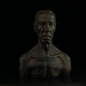 Bronze bust
