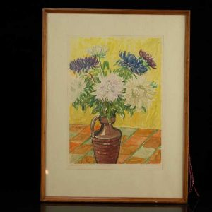 Estonian artist Märt Bormeister - flowers 1966a