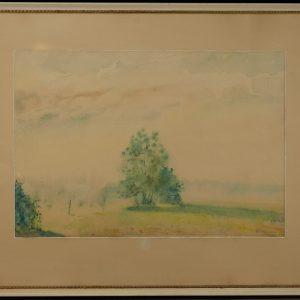 Karl Burman junior , watercolor , 1955