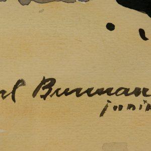 Karl Burman junior,Tiskre rand,akvarell